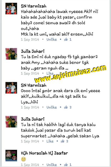 Cerita 1 September  2014  - Bila Akif Ajak Ke Pasar Beli Baby