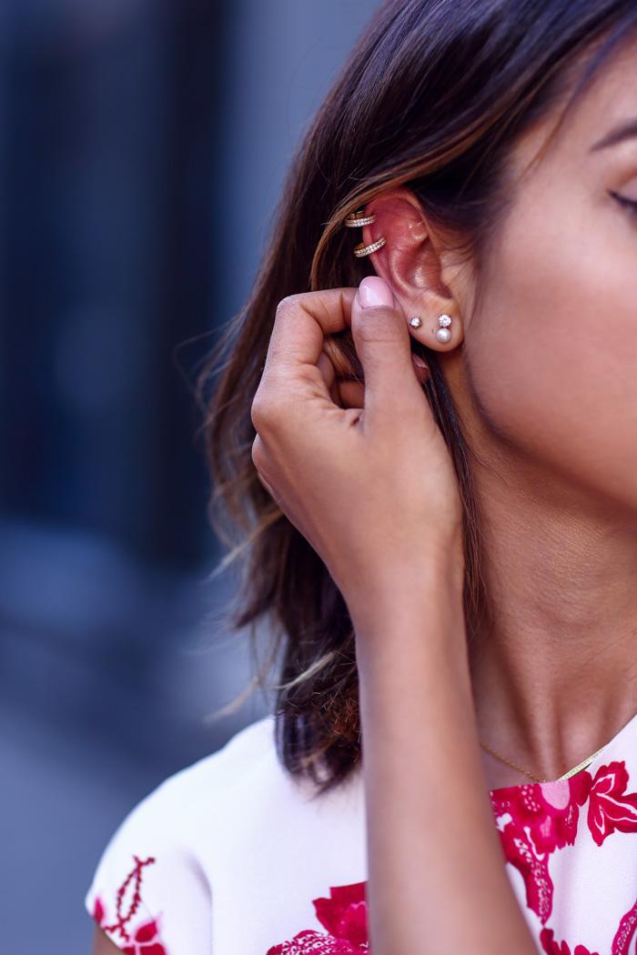 NIALAYA Skyfall collection gold jewel ear cuff