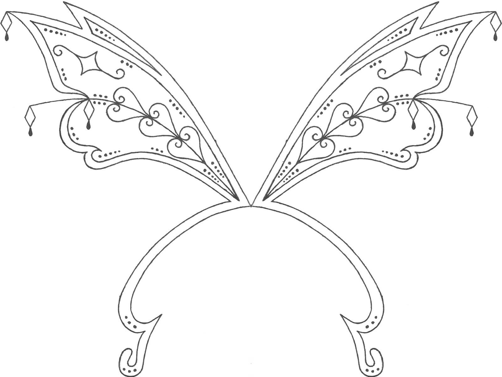 Winx Club Shines: Colorear: ¡Colorea las alas de las Winx!