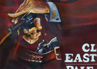 Caricature de Clint Eastwood