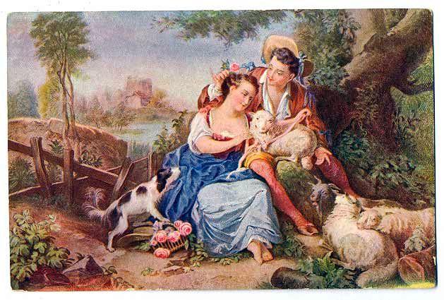 Репродукция картины оставленная девушка (the girl i left behind) - холиок уильям
