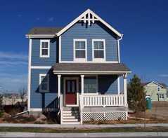 Dark blue house images