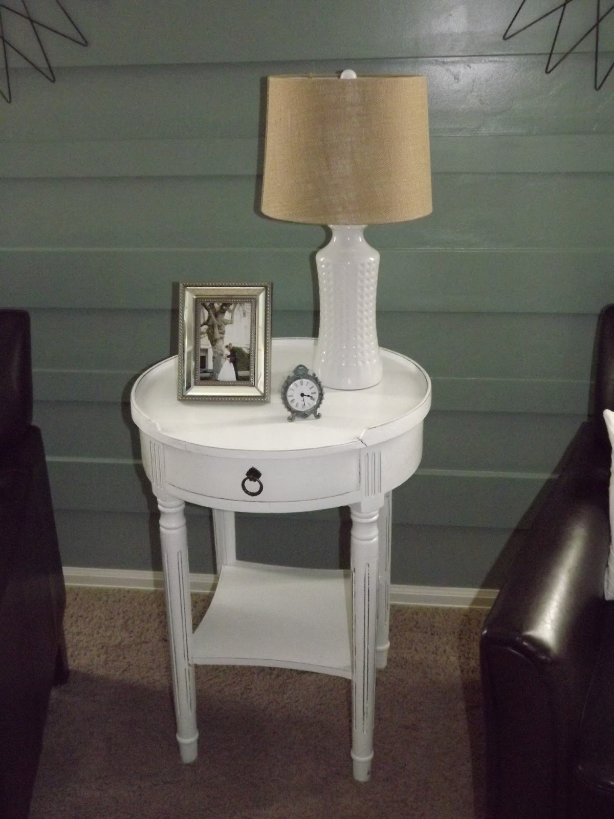 The End Table I Also Got From Downeast. I Love The White! I Looked Forever  For An Entertainment Center That Was White. RCWilley Doesnu0027t Sell Them.