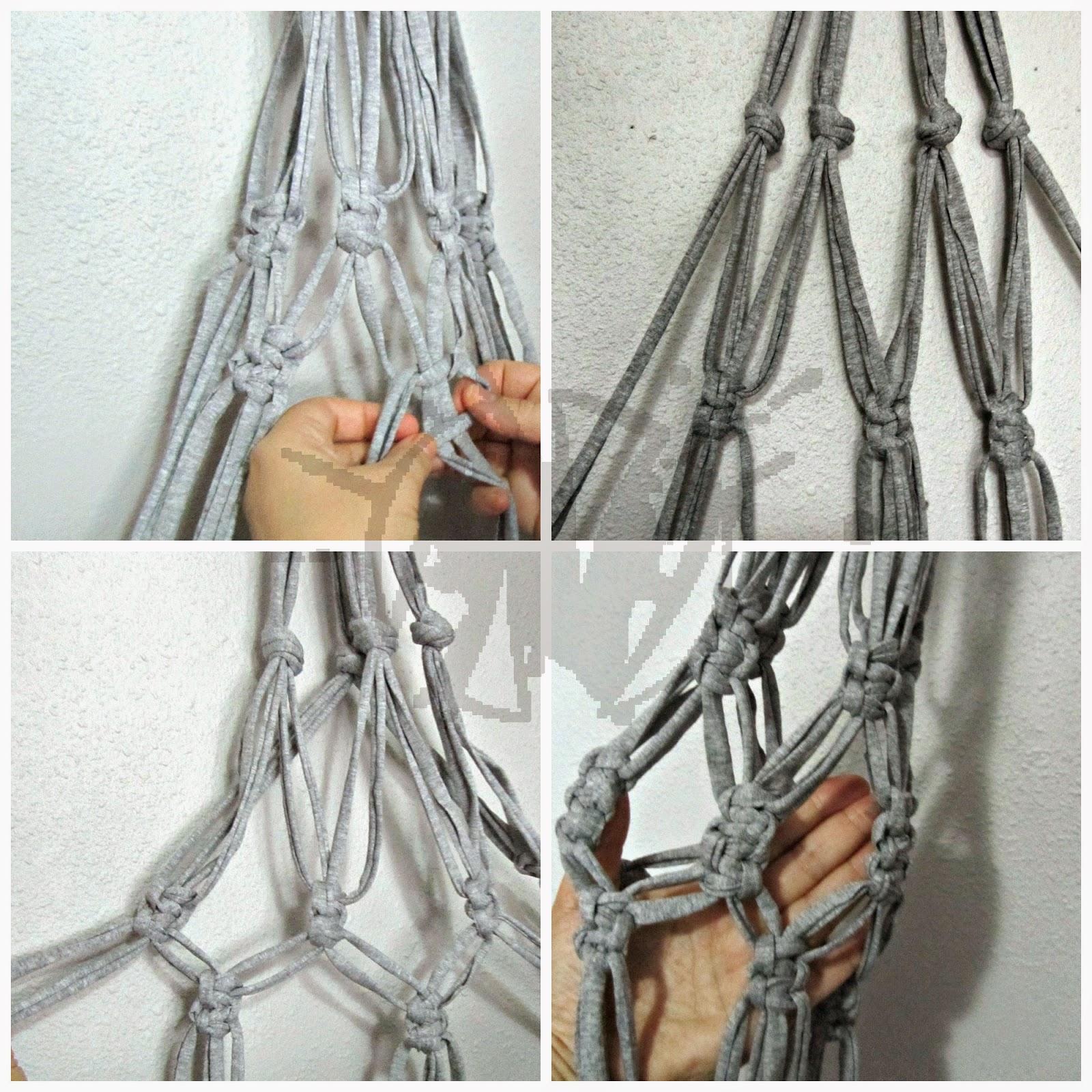 Cmo hacer un macetero colgante de macram - Como hacer maceteros colgantes ...