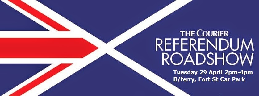 The Courier Referendum Roadshow Visits Broughty Ferry on Tuesday 29 April 2014 2-4pm