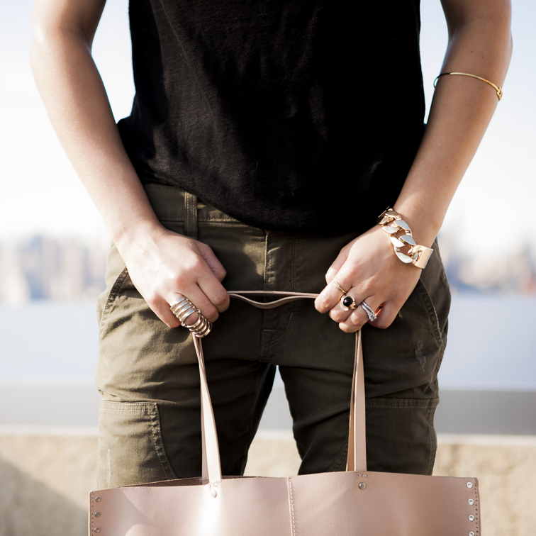 Details Rich & Skinny Dillon Utility Pants Rings Gold Accessories Jewelry Cage Ring
