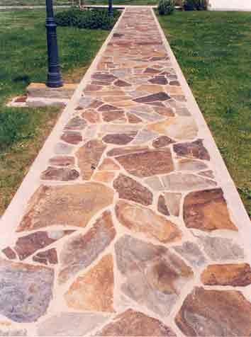 Brillo para suelos con lajas piedra blog tu hormigon impreso - Suelo piedra natural ...