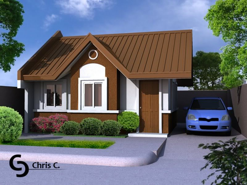 30 beautiful 2 storey house photos for Bungalow houses designs philippines images