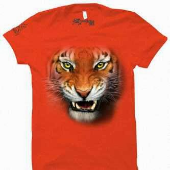 kaos 3d tiger orange