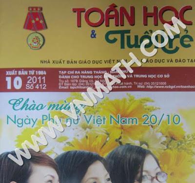 de thi thu dai hoc toan hoc tuoi tre 2012