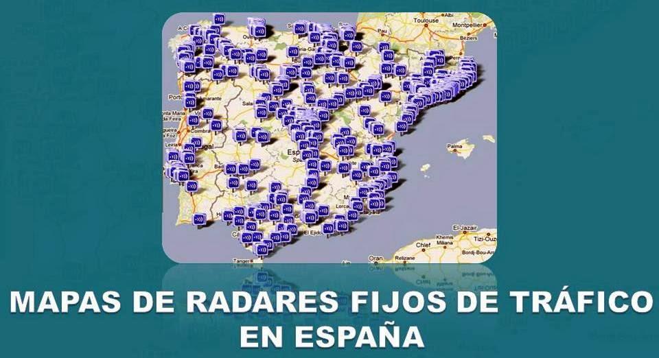 Mapa de Radares Fijos de España