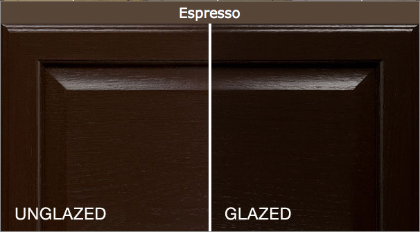We want to make the cabinets darker These are the two colors we like
