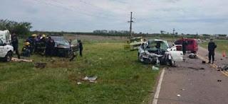 Cinco personas murieron en un choque frontal en la ruta 12, en la provincia de Corrientes