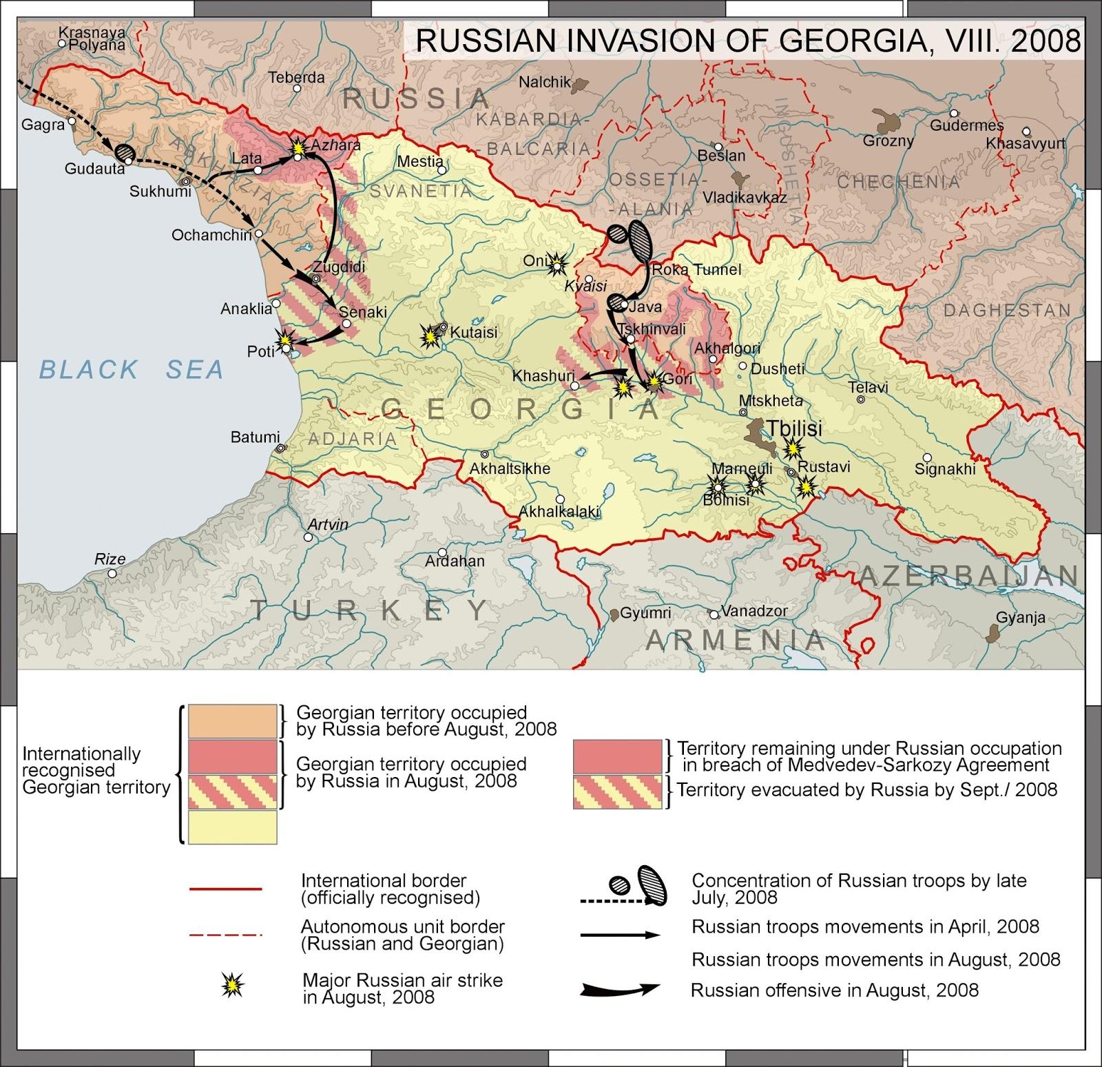 The Shrinking Of Georgian Ethnocultural Territory During The Last - Abkhazia georgia russia map