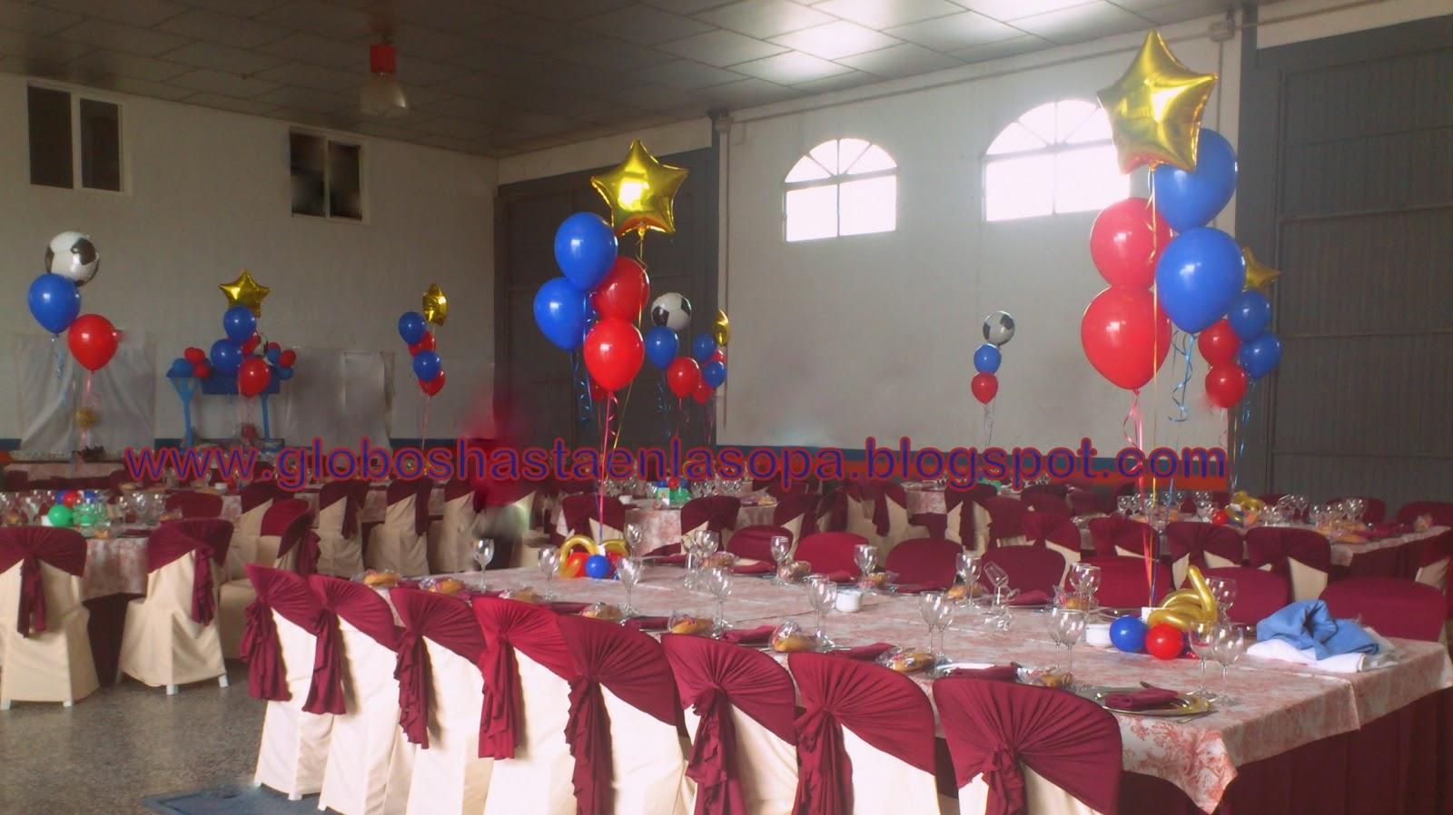 Globos hasta en la sopa decoraci n con globos for Fiestas tematicas bcn