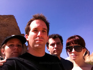 picture of Tina Fells, David August, Tanner L. Richards and Amber Rose Plaster on the set of Mountain Climbing Fail