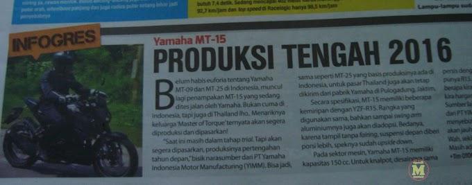 Awal atau Tengah Tahun Yamaha MT-15 Keluar? - Dinikmati Saja Deh
