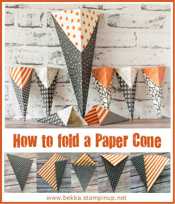 Halloween Week - How to Make Paper Treat Cones