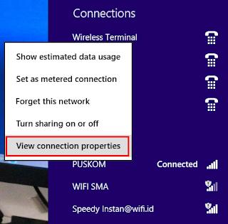 Cara Melihat Password WiFi di Windows 8
