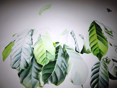 Coffee arabica painting in progress by J R Shepherd - Inky Leaves