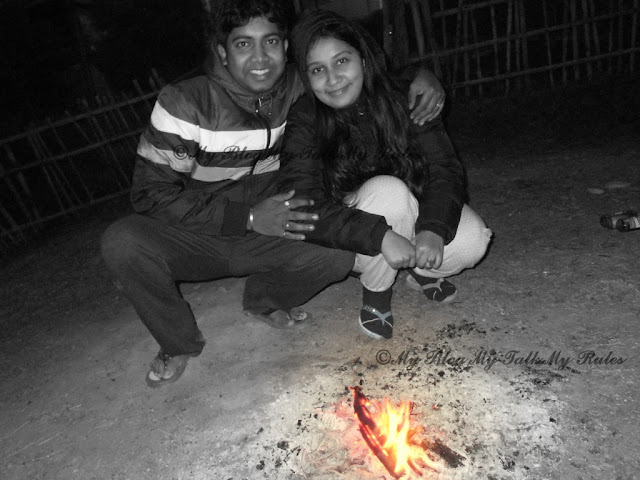 Enjoying Camp Fire at Reshikhola