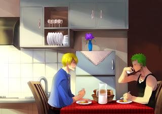 One Piece Black Leg Sanji Roronoa Zoro Anime Breakfast HD Wallpaper Desktop Background