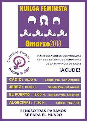 Las comarcas de la Bahía de Cádiz, Jerez y el Campo de Gibraltar se movilizan por el 8M