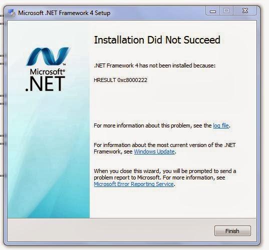 Solusi HRESULT 0xc8000222 Saat Install .Net Framework 4