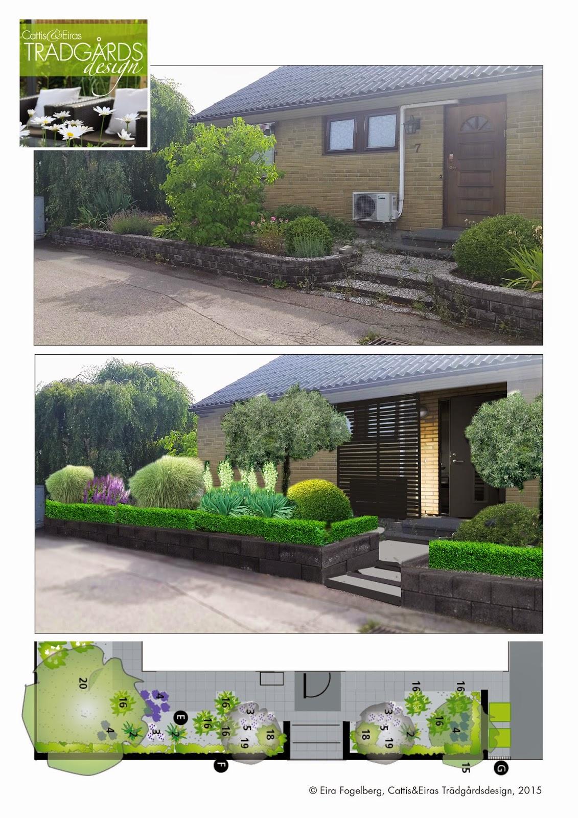 Cattis och eiras trädgårdsdesign: ritningar