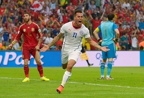 Espanha eliminada Copa do Mundo 2014 Chile 2 x 0 Espanha