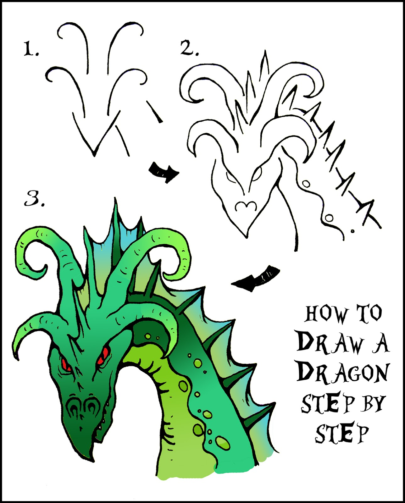 How To Draw A Dragon Step By Step Easy How To Draw A Chinese ...