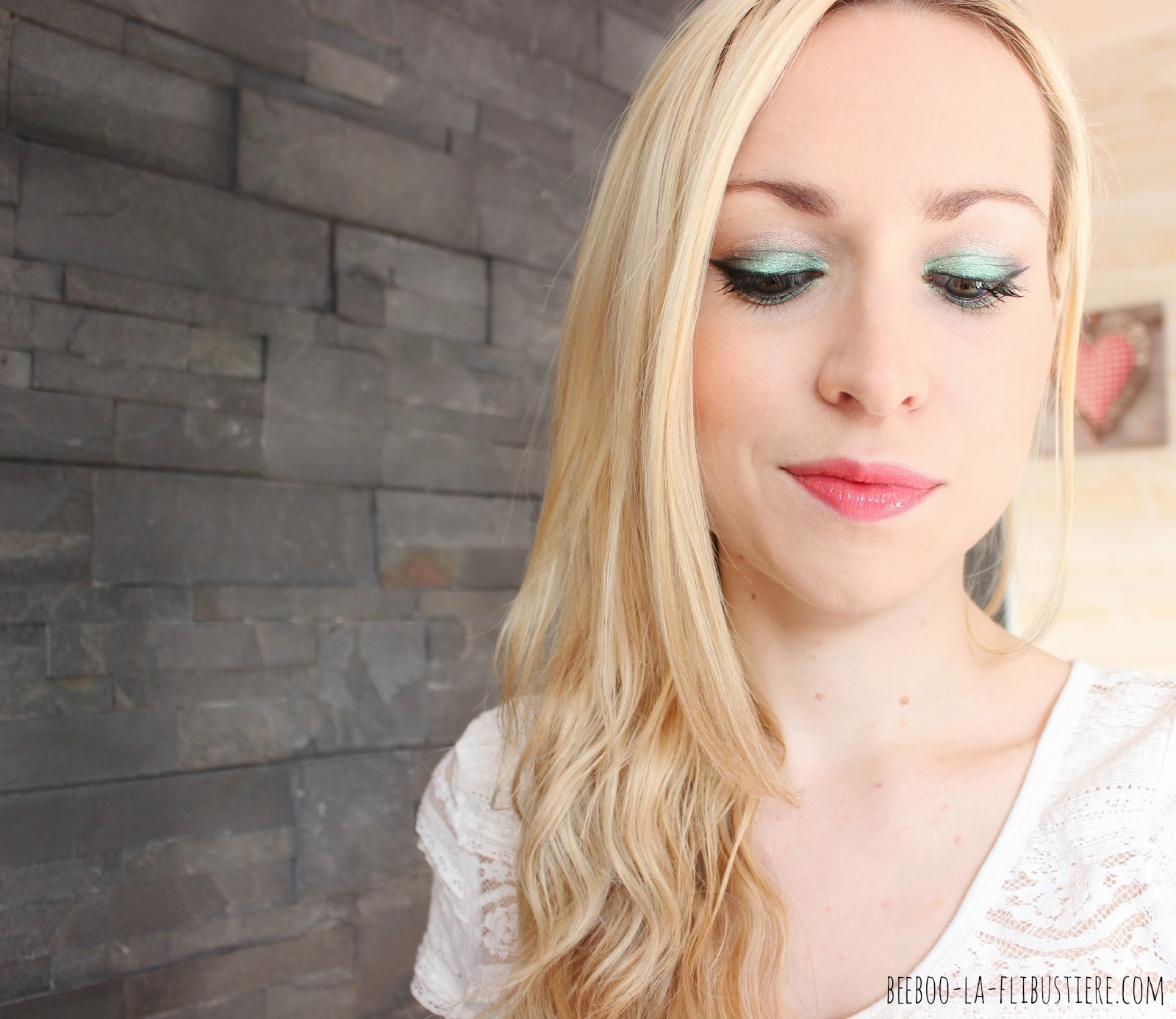 maquillage vert garden party
