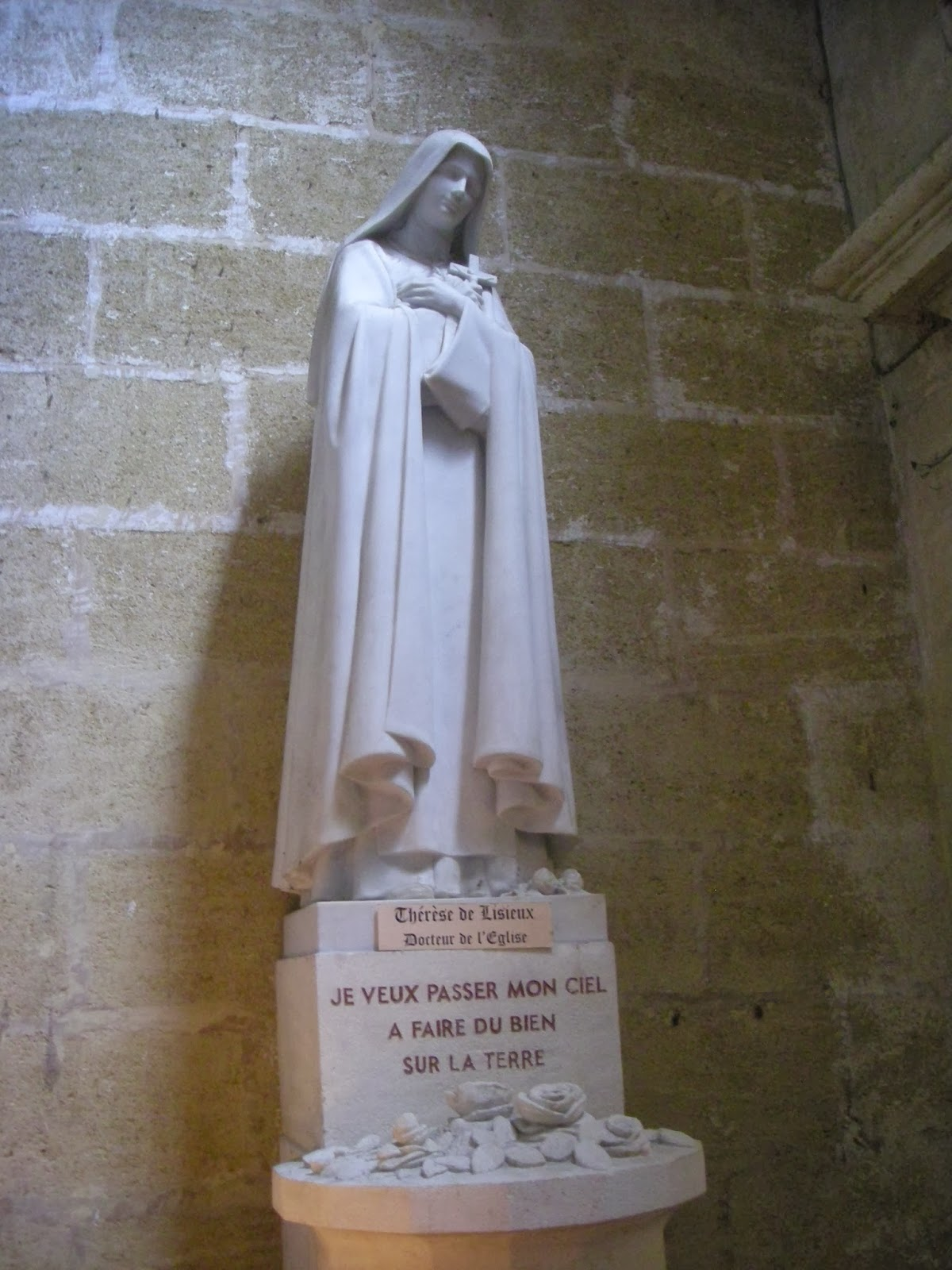 statue of St. Therese of Lisieux in France
