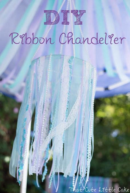 That cute little cake mermaid party ribbon chandelier tutorial mermaid party ribbon chandelier tutorial aloadofball Gallery