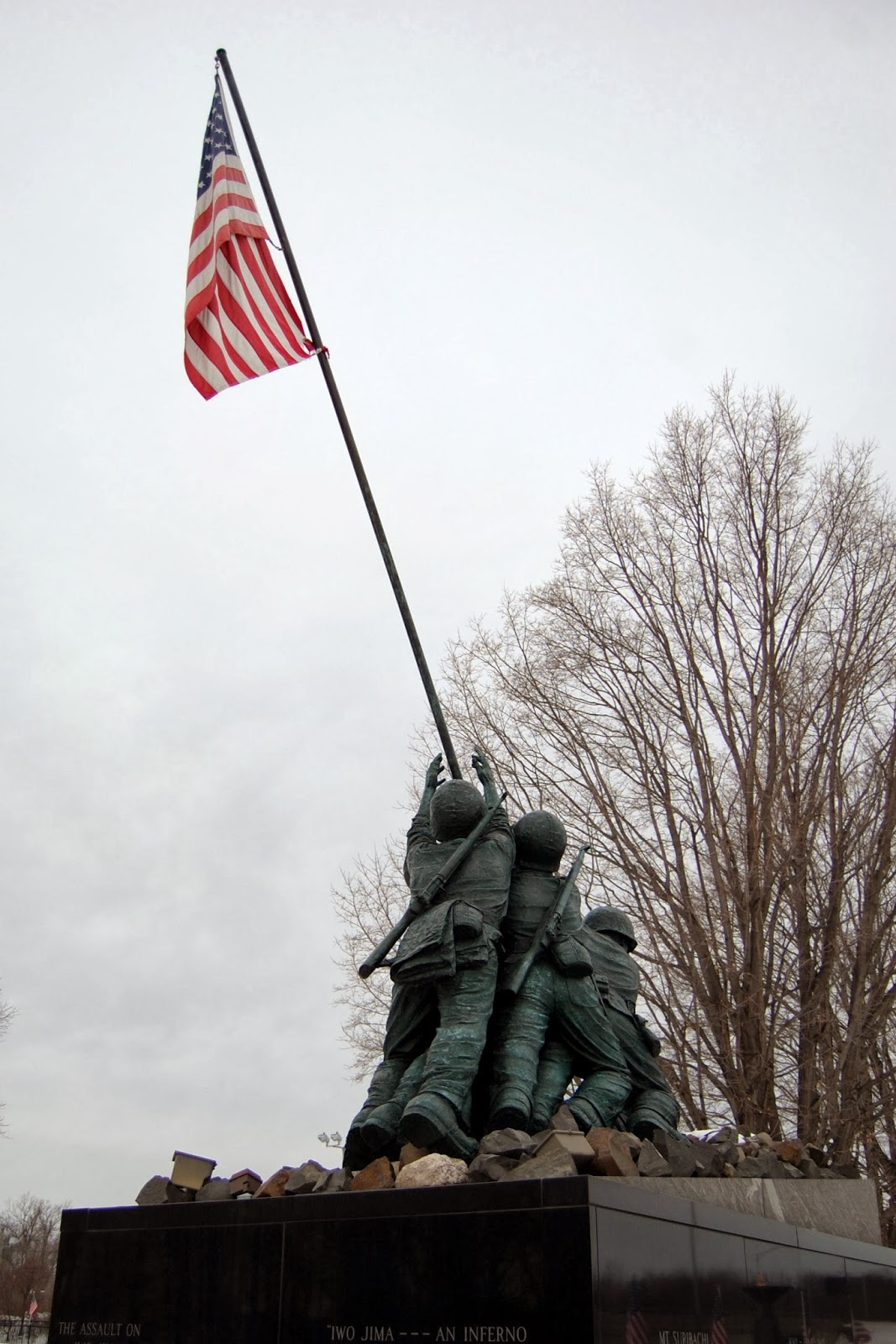 National Iwo Jima Memorial, CT - looking from the rear
