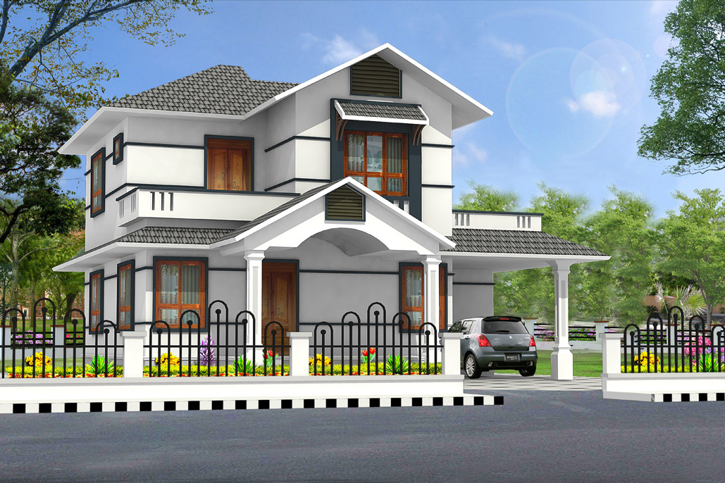 New home designs latest modern residential villas for Modern residential house plans