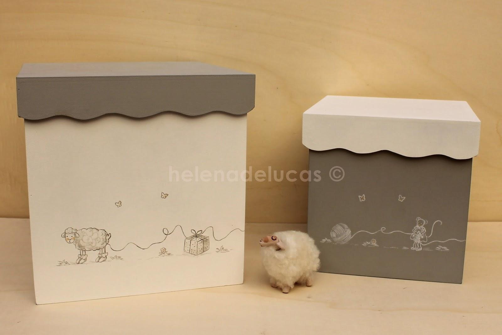 Helenadelucas cajas de madera infantiles decoradas - Cajas de madera decoradas ...