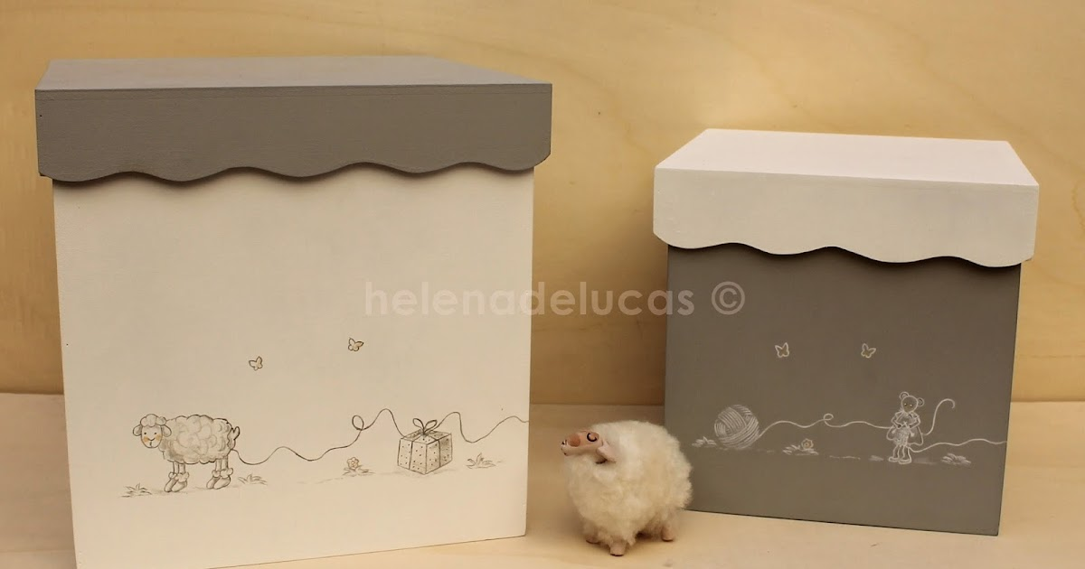 Helenadelucas cajas de madera infantiles decoradas for Caja almacenaje infantil