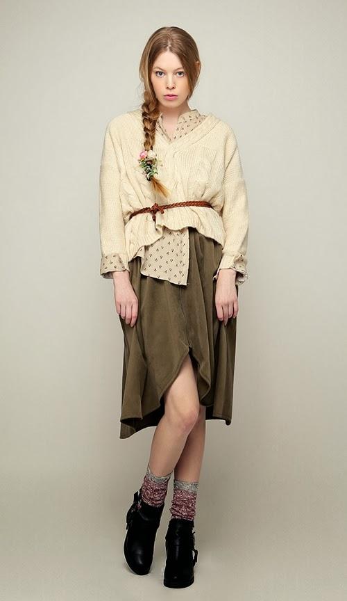 Suede Front Zip Flare Skirt