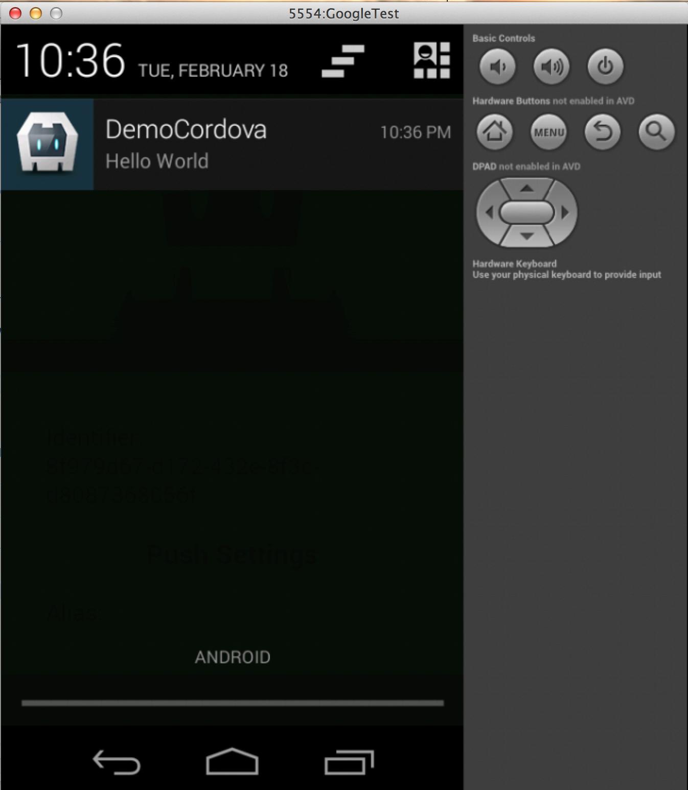 Emulator push notifications android Tutorial /