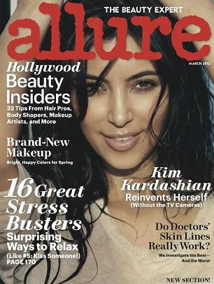 Foto Semi Bugil Kim Kardashian di Majalah Allure