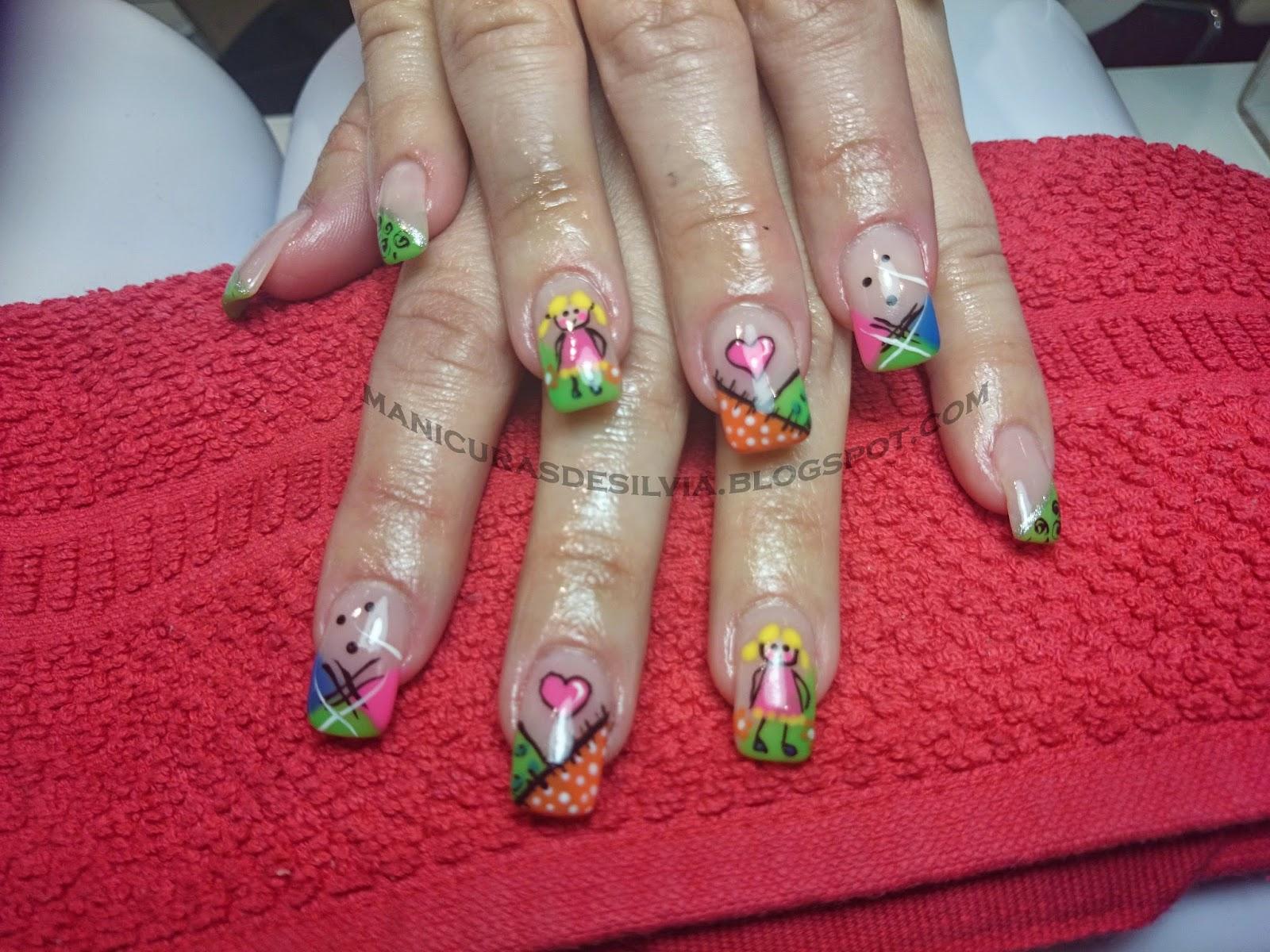 Manicuras De Silvia Unas Neon Neon Nails