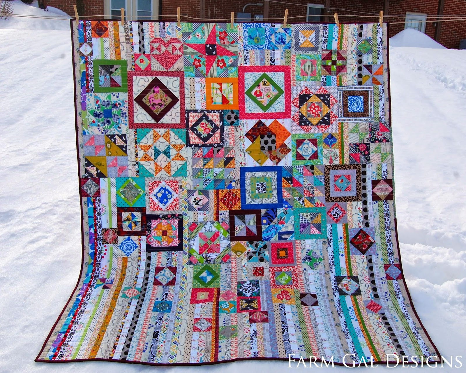 Farm Gal Designs Completed Gypsy Wife Quilt
