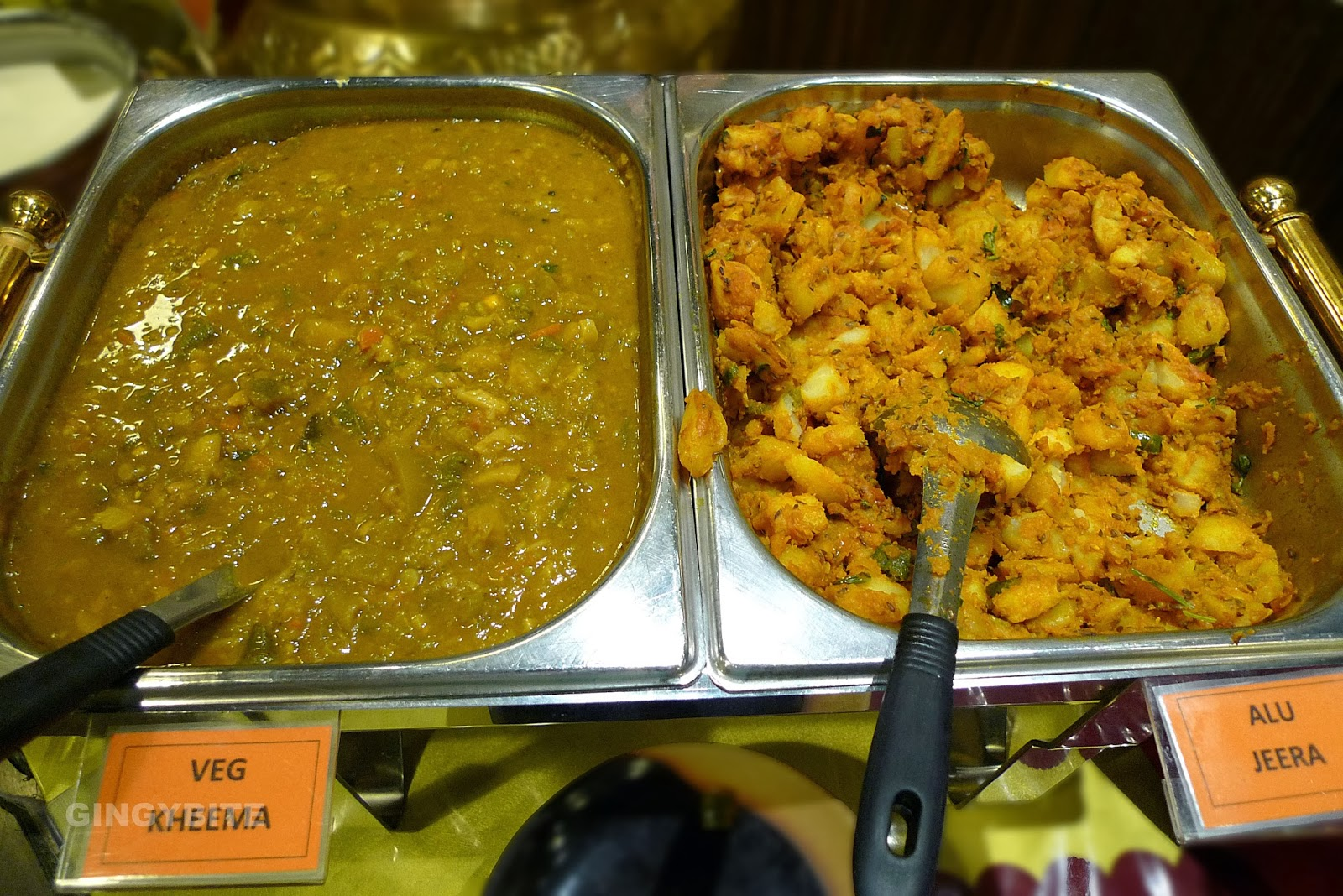 kheema and alu jeera