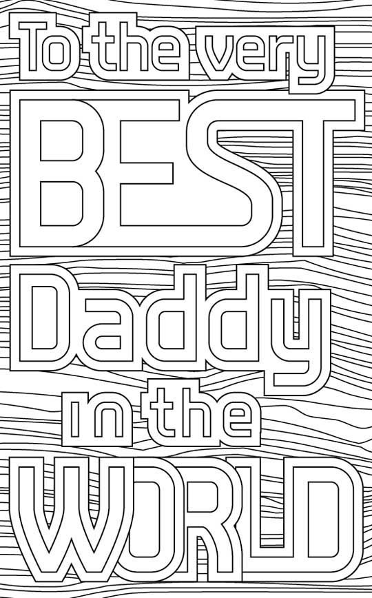 Weelife Fathers Day Card Colouring Sheets