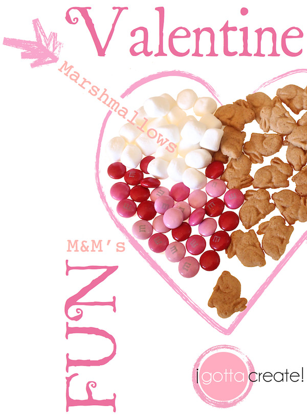 Yum! How to make Valentine S'more Munch Mix | visit I Gotta Create!