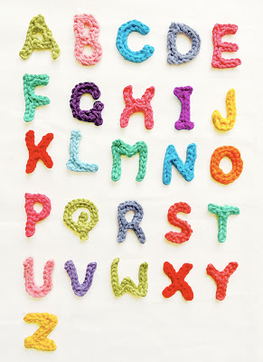 free alphabet applique crochet pattern