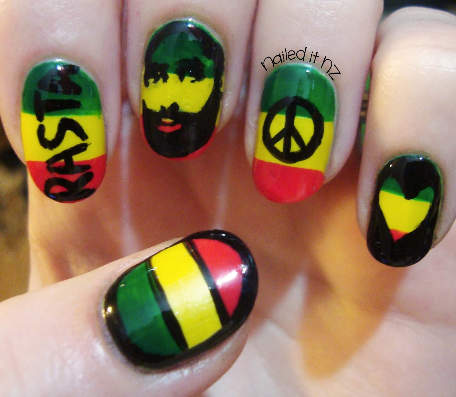 Rasta nails are so hard to do get a born pretty store coupon nailed it nz prinsesfo Choice Image