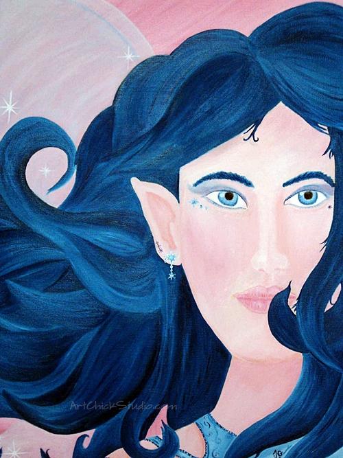 Sparkle Fairy Oil Painting