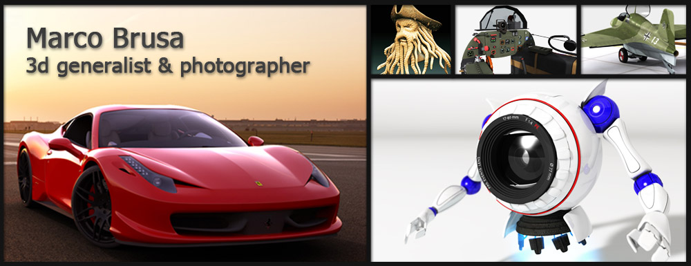 Marco Brusa, 3D generalist and photographer